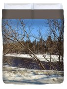 River Through The Branches Duvet Cover