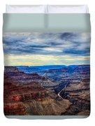 River Through The Canyon Duvet Cover