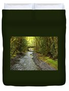 River Through The Rainforest Duvet Cover