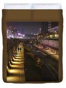 River Walk - Cheonggyecheon - Seoul Duvet Cover