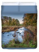 River Wansbeck At Wallington Duvet Cover