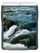 River With Rapids Duvet Cover