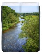 River Wye From Hay-on-wye Bridge Duvet Cover
