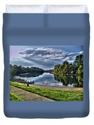 Riverbank Boats Duvet Cover