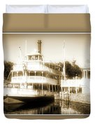 Riverboat, Liberty Square, Walt Disney World Duvet Cover