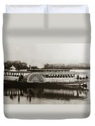 Riverboat  Mayflower Of Plymouth   Susquehanna River Near Wilkes Barre Pennsylvania Late 1800s Duvet Cover