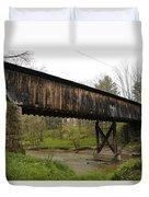 Riverdale Road Covered Bridge Duvet Cover