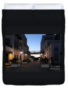 Riverfront At Twilight Duvet Cover