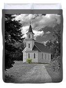 Riverside Presbyterian Church 1800s Bw Duvet Cover
