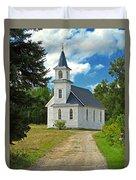 Riverside Presbyterian Church 1800s Duvet Cover