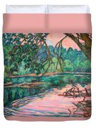 Riverview At Dusk Duvet Cover