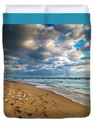 Riviera Beach Sunrise Duvet Cover