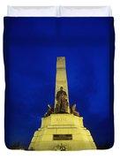 Rizal Monument Duvet Cover