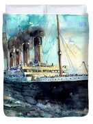 Rms Titanic White Star Line Ship Duvet Cover
