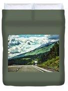 Road Alaska Bicycle  Duvet Cover