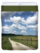 Road From The Farm Duvet Cover