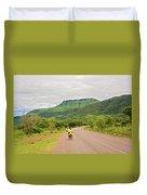 Road In Khondowe, Malawi Duvet Cover