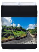 Road In Park Duvet Cover