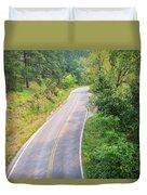 Road In The Black Hills Duvet Cover