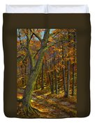 Road In The Woods Duvet Cover