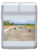 Road In Zambia Duvet Cover
