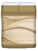 Road Is A Journey Duvet Cover