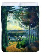 Road Leading To The Lake, By Paul Cezanne, Circa 1880, Kroller-m Duvet Cover