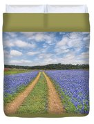 Road Of Bluebonnets  Duvet Cover