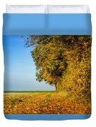 Road Of Leaves Duvet Cover