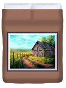 Road On The Farm Haroldsville L B With Alt. Decorative Ornate Printed Frame.   Duvet Cover
