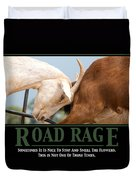 Road Rage Duvet Cover