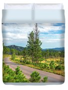Road Through Custer State Park Duvet Cover