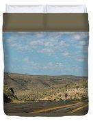Road Through New Mexico Desert High Noon Duvet Cover