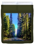Road Through The Forest Duvet Cover