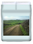 Road Through The Pastrues Of Terceira  Duvet Cover by Kelly Hazel