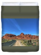 Road Through Valley Of Fire  Duvet Cover