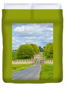 Road To Burghley House-vertical Duvet Cover