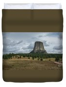 Road To Devils Tower Panorama Duvet Cover