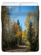 Road To Fall Colors Duvet Cover