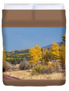 Road To Hart Prairie Duvet Cover