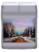 Road To Knowlton Quebec Duvet Cover