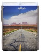 Road To Monument Valley Duvet Cover