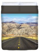 Road To Owl Creek Mountains Wyoming Duvet Cover