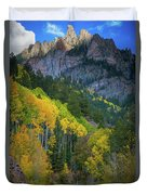 Road To Silver Mountain Duvet Cover