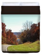 Road To Stonefort Duvet Cover