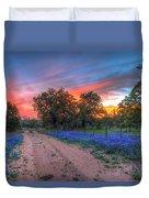 Road To Sunset Duvet Cover