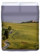 Road To Terrapille In Tuscany Duvet Cover