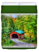 Road To The Covered Bridge Duvet Cover