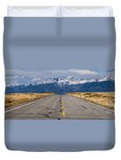 Road To The Mountains Panorama Duvet Cover