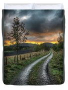 Road To The Sunset Duvet Cover